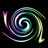 Iridescent spiral Stock Photos