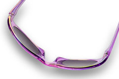 Iridescent sunglasses closeup Stock Images