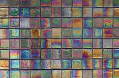 Iridescent Tile. A large and beautiful mosaic of iridescent tiles stock photos