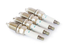 Iridium spark plug set Stock Image