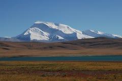 Iriki Nani peak. A vision  of Iriki Nani peak  and Ghost lake Royalty Free Stock Photos