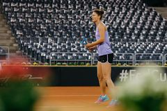 Irina Begu training at Fed Cup 2018 Romania Royalty Free Stock Photos