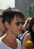 Irina Khakamada Αποχαιρετιστήριη τελετή Valeria Novodvorskaya Στοκ Φωτογραφία