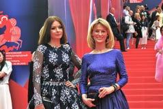 Irina Lachina and Julia Romashina at Moscow Film Festival Stock Photography