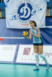 Irina Malkov (Dynamo (KZN) 5. MOSCOW, RUSSIA - DECEMBER 2: Irina Malkov (Dynamo (KZN) 5, while playing on women's Rissian volleyball Championship game Dynamo ( Royalty Free Stock Photography