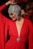 Irina Pantaeva walks the runway at the Go Red For Women Red Dress Collection 2015 Stock Photos