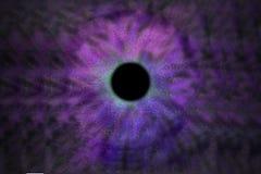 Iris Background - de Stijl van de Melkwegkosmos, Heelal Astronomisch Behang met blauw turkoois stardust stock afbeelding