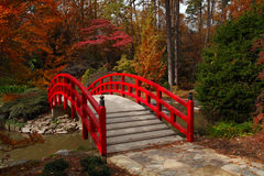 Iris Bridge in the Fall Royalty Free Stock Images