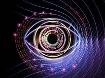 Iris de technologie Photo libre de droits