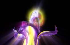 Iris Flower Castle med strålar Arkivfoto