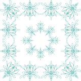 Iris flower. Seamless linear pattern on white background. royalty free illustration