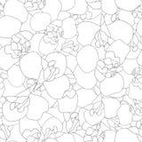 Iris Flower Seamless Outline no fundo branco Ilustração do vetor ilustração do vetor