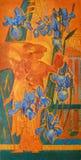 Iris och trädgård av Eden royaltyfri bild