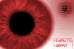 Iris recognition. Security concept: iris recognition scan royalty free illustration