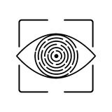 Iris recognition biometric identification Stock Photos