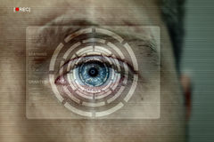 Iris recognition screen Stock Photos