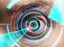 Iris scan security Royalty Free Stock Photo