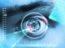 Iris scan security royalty free stock photos