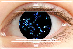 Iris scan security Royalty Free Stock Photography