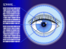 Iris scanner concept Royalty Free Stock Image
