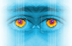 Iris security scan Stock Photography
