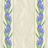 Iris vertical border Royalty Free Stock Photography