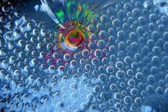 Irisación coloreada debajo del vidrio Fotos de archivo libres de regalías