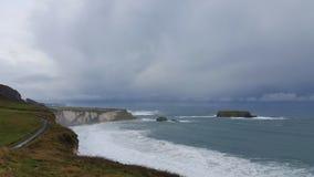Irische Küste und Ozean Stockbild