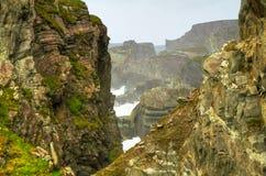 Irische Klippen am Mizen Kopf Stockfoto