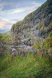 Irische Klippenseite des blauen Himmels stockbild