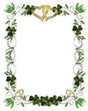 Irische Rand-Hochzeits-Schablone vektor abbildung