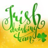 Irische trinkende Teamfahne lizenzfreie abbildung