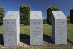 Irische Zahl der Todesopfer auf Messines Ridge lizenzfreies stockbild