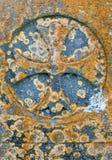 Irischer Beschaffenheitshintergrund des keltischen Kreuzes Stockbilder