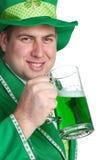 Irischer Bier-Mann Stockfotografie