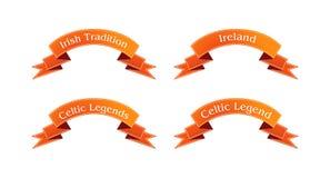 Irischer orange Bandsatz Stockbild