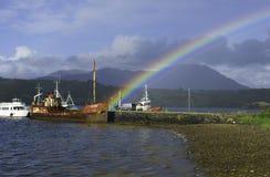 Irischer Regenbogen Stockfotografie
