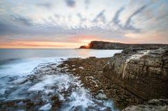 Irischer Sonnenuntergang Stockfotos