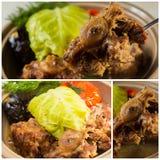 Irisches Eintopfgericht, gemacht mit Lamm, Stout, Kartoffeln, Karotten und Kräutern Lizenzfreie Stockfotos