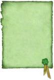 Irisches Glück-Pergament Stockfoto