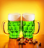 Irisches grünes Bier Lizenzfreies Stockfoto