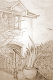 Irisches Haus Stockbild