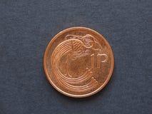 Irisches Pfund u. x28; IEP& x29; Münze Lizenzfreie Stockfotografie