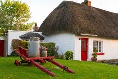 Irisches traditionelles Häuschenhaus Lizenzfreies Stockbild
