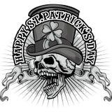Irisches Wappen mit dem Schädel Lizenzfreies Stockbild