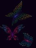 Iriserende vlinders Stock Foto