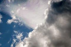 Iriserende Wolken Stock Foto's
