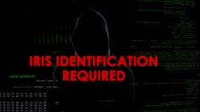 Irisez l'identification requise, tentative entaillante infructueuse sur le serveur, échec images libres de droits