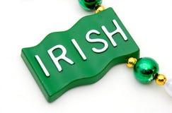 Irish. The word irish on a flag shaped charm Stock Photos
