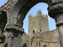 Irish Abbey. 12th century Jerpoint Abbey, Kilkenny, Ireland Royalty Free Stock Photos